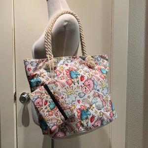 Handbags - NWOT Baby Unicorn Canvas Zip Tote
